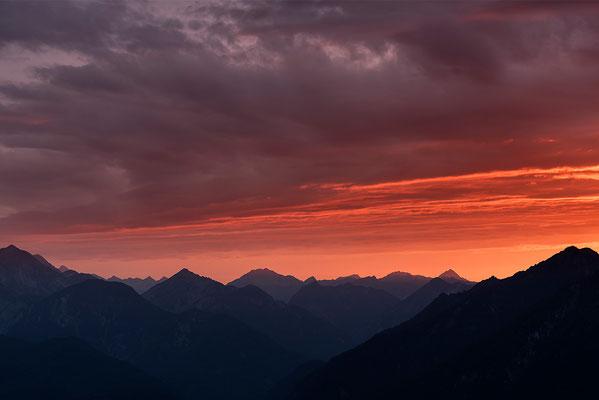 Blick vom Wank in Richtung Reutte, Tirol / Deutschland (Bildnummer 7192)
