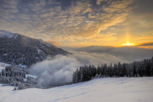 Sonnenuntergang im Zillertal / Österreich (Bildnummer 141231)