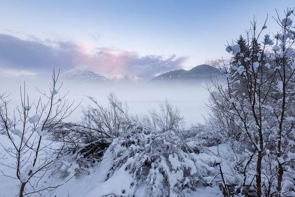 Nebelige Abendstimmung im Karwendel (Bildnummer 87903)
