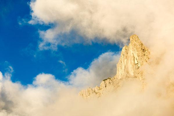 Wolkenstimmung im Karwendel, oberhalb von Mittenwald / Deutschland (Bildnummer 170604_0333)