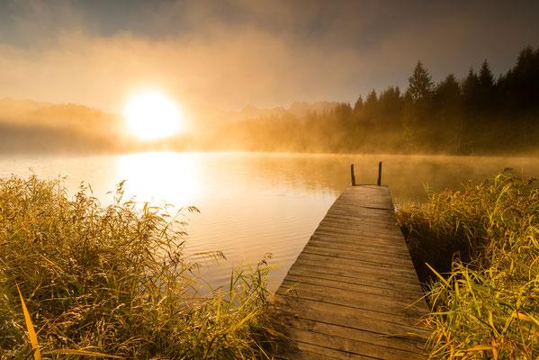 Sonnenaufgang am Geroldsee / Deutschland (Bildnummer 8085 )