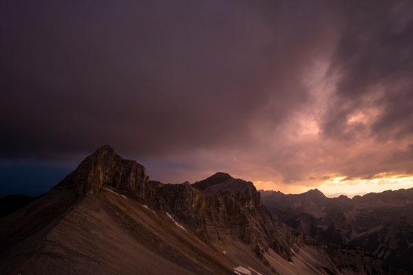 Westflanke der Breitgrieskarspitze (2590m) im Abendlicht