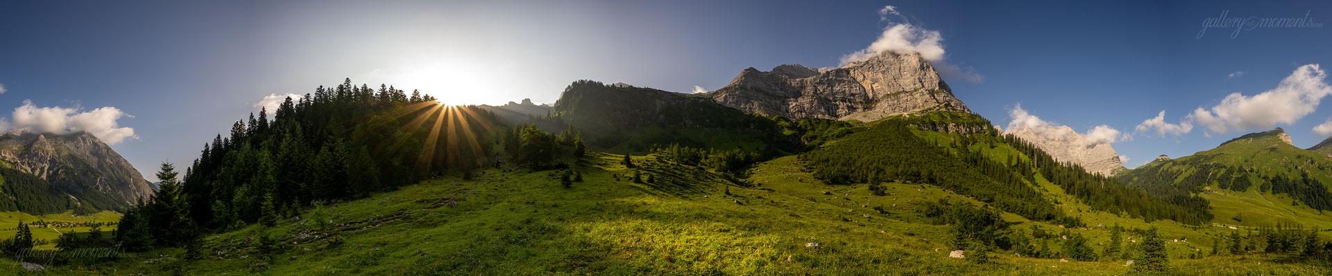 Sonnenaufgang in der Eng, Karwendel / Tirol (Bildnummer 701427)