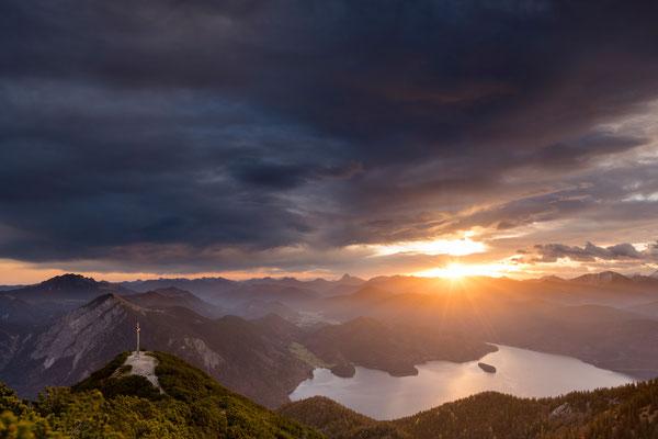 Sonnenaufgang über dem Walchensee / Deutschland (Bildnummer 8145)