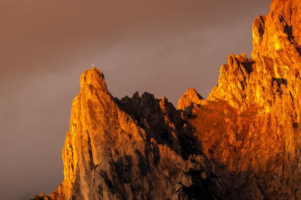 Goldenes Abendlicht an der Viererspitze