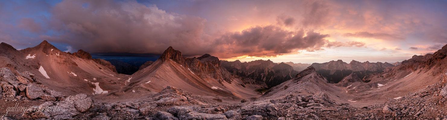 Unwetter und Abendlicht am Breitgrieskar, Karwendel / Tirol (Bild nummer Z700121)