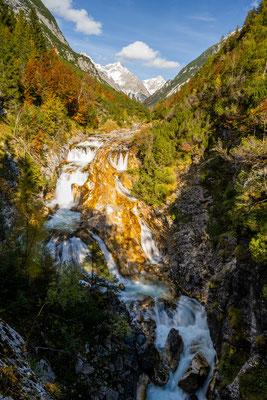 Der Karwendelbach Wasserfall