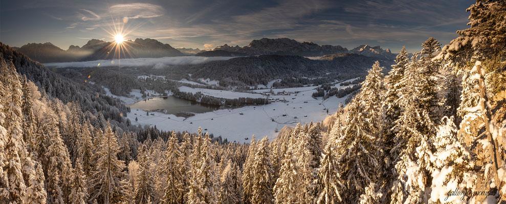 Wintermorgen im Werdenfelser Land, Geroldsee / Deutschland (Bildnummer 81128_598)