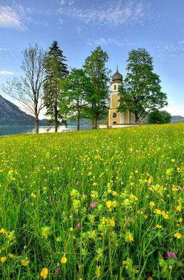 Kapelle St. Margareth am Walchensee im Frühling / Deutschland (Bildnummer 750013_4)