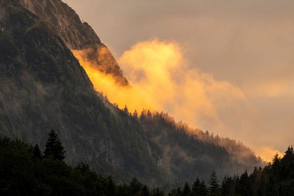 Blick zum Wettersteingebirge /Ferchensee