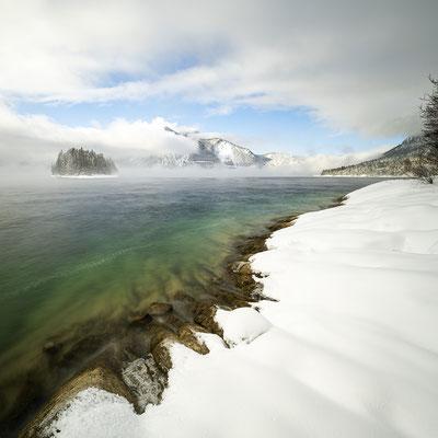 Eis am Ufer des Walchensee II