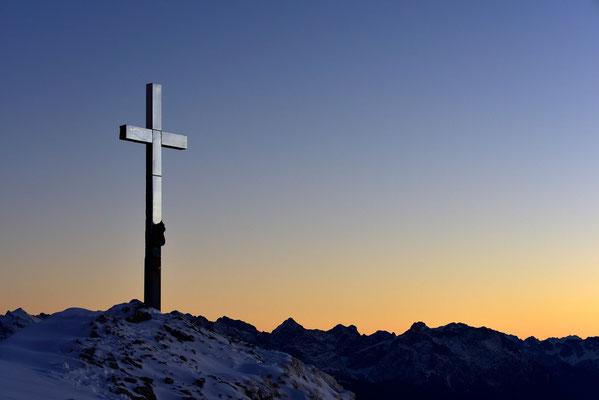 Gipfelkreuz auf dem Heimgarten / Deutschland (Bildnummer 752595)
