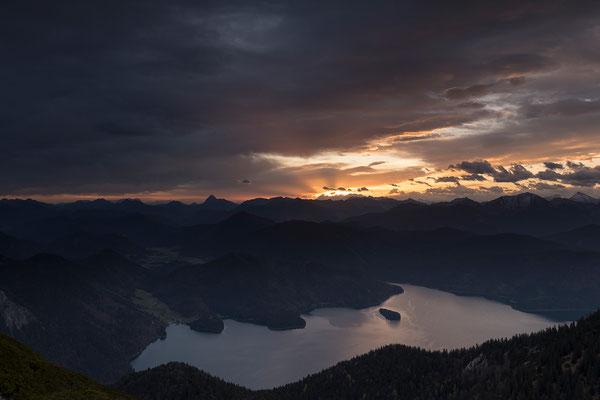 Kurz vor Sonnenaufgang mit Walchensee (Bildnummer 8108)