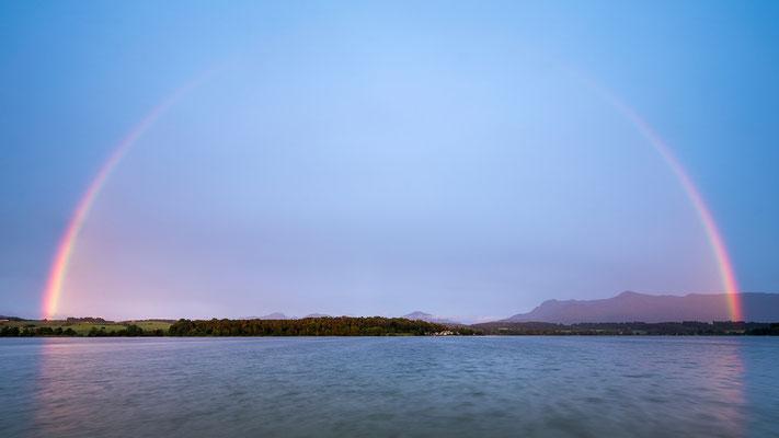 Regenbogen am Riegsee