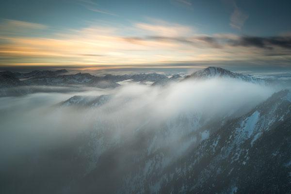 Nebelstimmung am Heimgarten, Estergebirge (Bildnummer 755076)