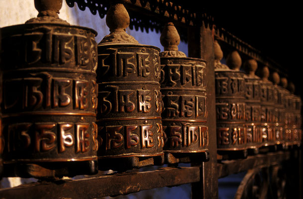 Gebetsrollen / Nepal (Diafilm Bildnummer 22299)