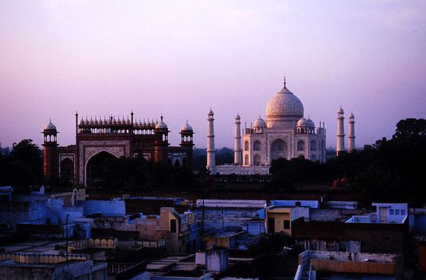 Abendstimmung am Taj Mahal / Indien (Diafilm Bildnummer 22211)
