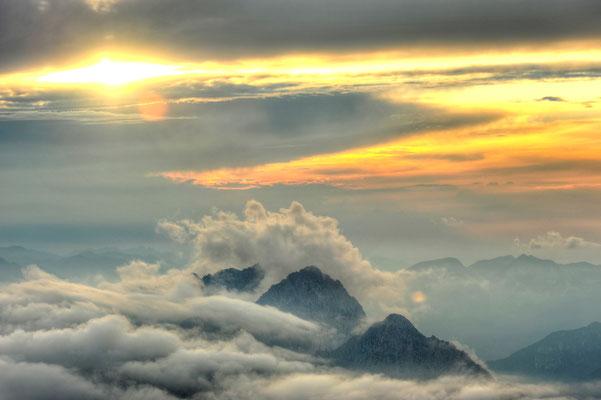 Wolkenstimmung an den Ödkarspitzen / Österreich (Bildnummer 4884_5)