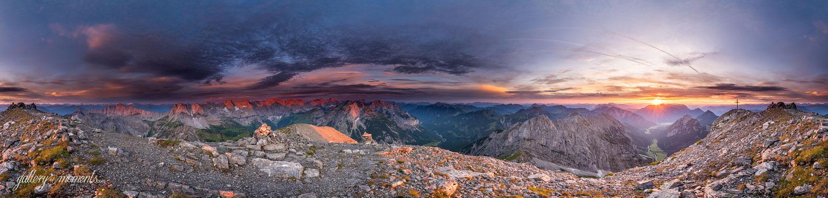 Sonnenaufgang am Sonnjoch im Karwendel / Tirol (Bildnummer 505304)