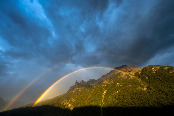 Doppelter Regenbogen über dem Karwendel & Viererspitze