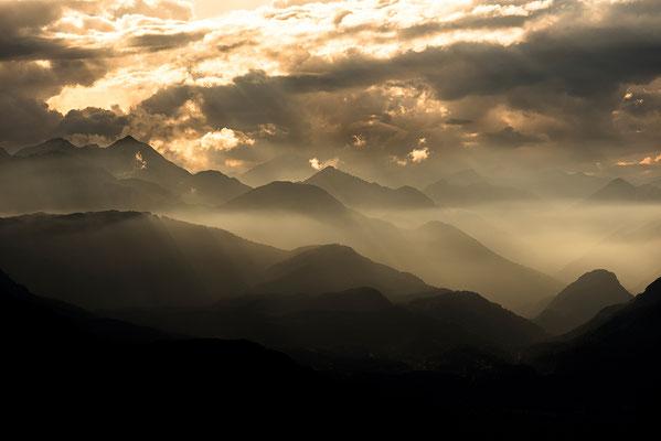 Alpines Abendlicht bei Garmisch-Partenkirchen / Deutschland (Bildnummer 7513-3)