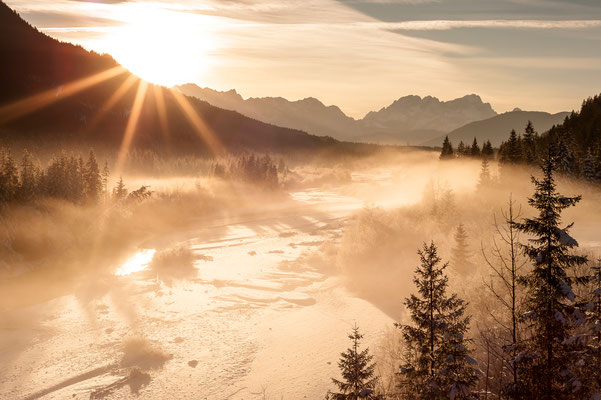 Winterlicht an der Isar / Deutschland  (Bildnummer 7001653)