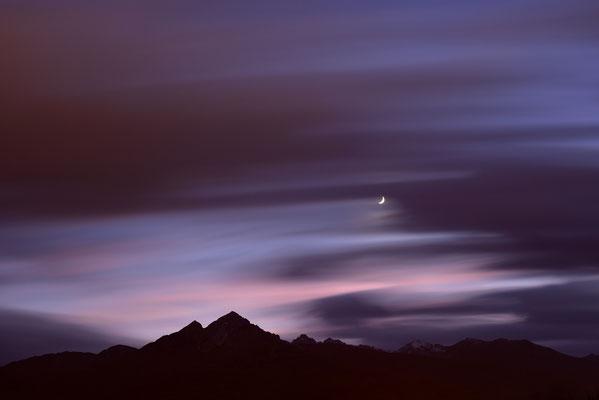 Nachtaufnahme der Nockspitze bei Innsbruck / Österreich (Bildnummer 751688)