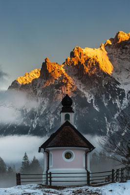 Maria Königin Kapelle bei Mittenwald / Deutschland (Bildnummer 7001283)