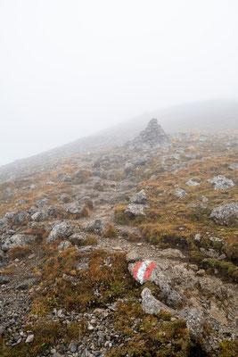 Weg zum Gipfel des Sonnjoch