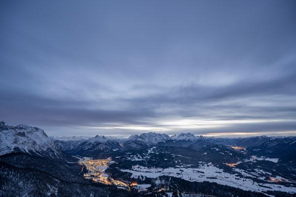 Das Werdenfelserland beim Abstieg vom Berg