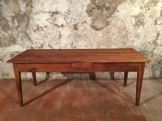 Kirschbaumtisch mit 2 Schubladen, 207 x 78cm, H: 79cm