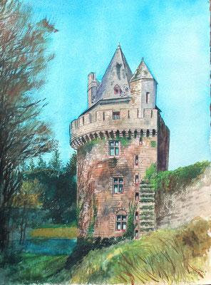 La tour de Queven, aquarelle,vendu