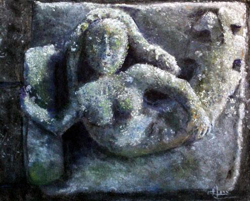 La sirène de Lancieux, pastels secs,   30 x 20 cm, vendu