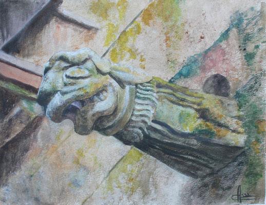 Grenouille de Lampaul-Guimiliau, aquarelles, 350 €
