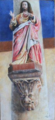 Jésus de Locmélar, pastels secs, 450 €