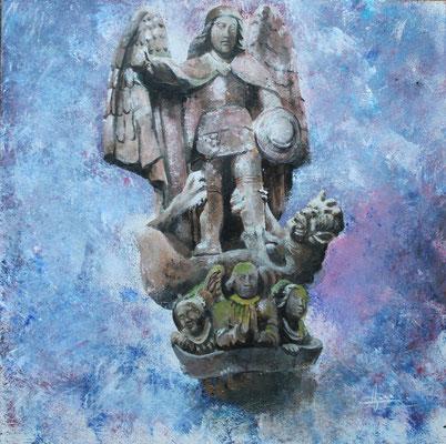 Saint Michel, Landivisiau, acrylic, 350 €