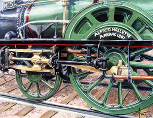 Train vert, 60 x 50 cm, 900 €