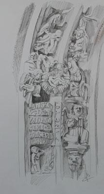 Les Rois Mages, Guimiliau, graphites, 120 €