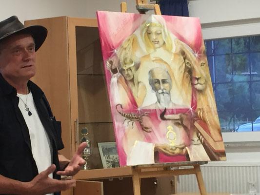 """Jopie Bopp erklärt die Bedeutung des Bildes """"Der spirituelle Lehrer"""" ehemal der Hohepriester"""
