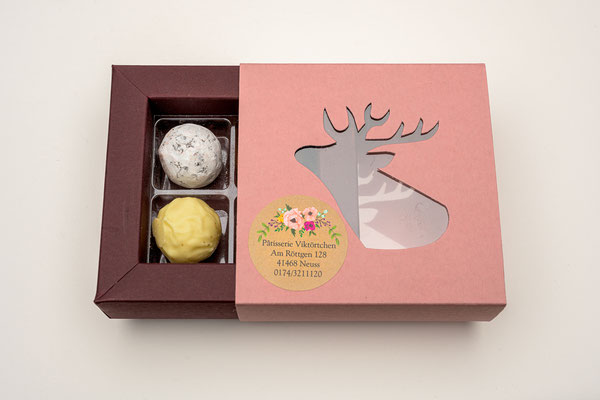 Süße Verpackungen zu den Pralinen