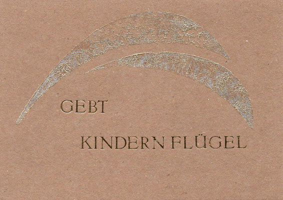 Taufkarte Kinder Packpapier Maxikarte