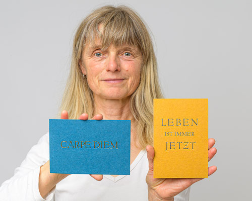 Postkarten Recyclingkarton Carpe diem 3.-, Leben... 5 Euro