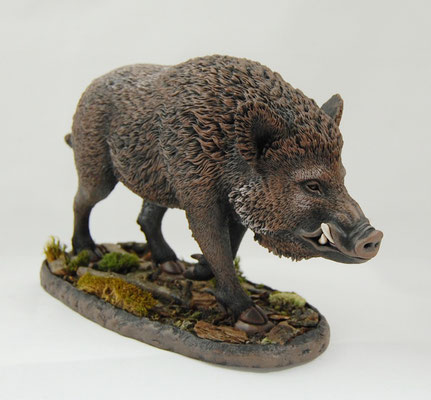 Wild Boar Handmade Figurines By Victoria