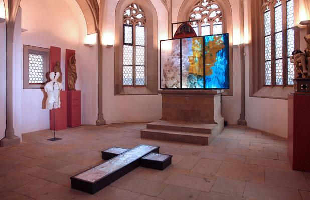'schmerzRaum' Museum Johanniskapelle Gerolzhofen, Kapellenraum, 2014