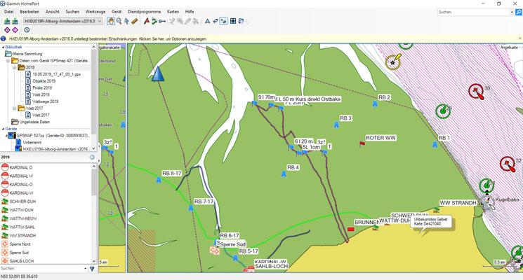 Die Rohdaten auf der Karte des Bearbeitungsprogramms auf dem PC