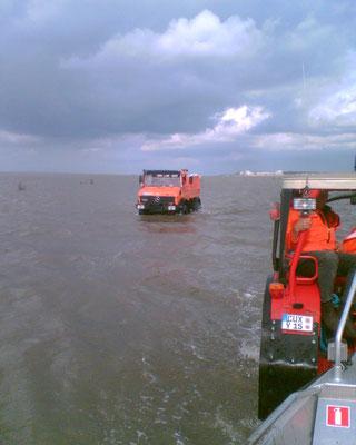 18.07.09 A - Person von Rettungsbake 6 gerettet © FF-Duhnen