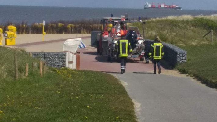 Wattwagenauffahrt Duhnen © FF.Cuxhaven-Duhnen