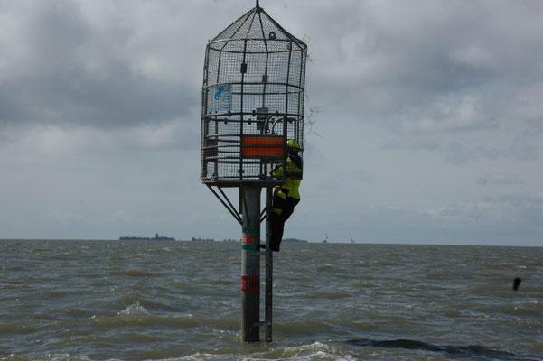 An der Rettungsbake 3 © FF.Cuxhaven-Duhnen