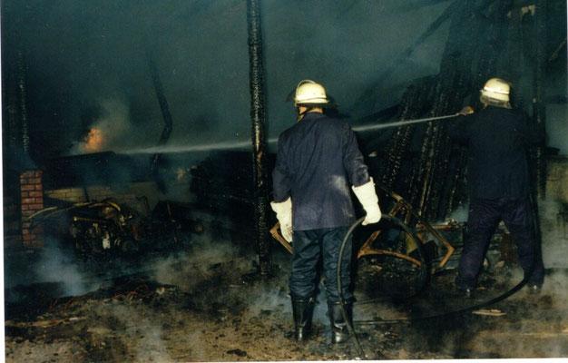 22.08.97 B - Feuer im FORT THOMSEN © FF-Duhnen