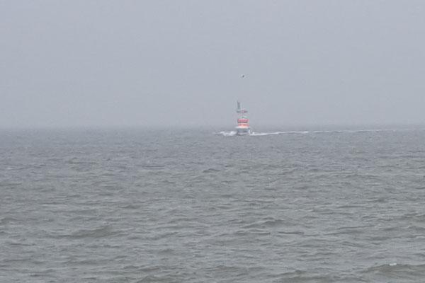 In der Ferne erscheint das neue Schiff © FF.Cuxhaven-Duhnen